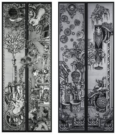 エレベータードアのためのデザイン図/梵寿綱