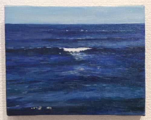 青い海、白い波
