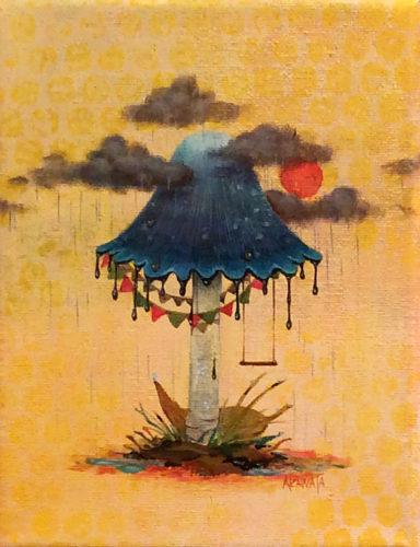 キノコの国 ひと時の遊び場/赤綿