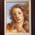 「サンドロボッティチェリ ヴィナスの誕生・顔の部分模写」松江比佐子