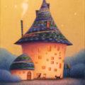 「青い屋根の家とねこ」多田知史