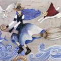 「海原を飛ぶ魔女と仲間たち」/すずきえつこ