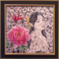 「牡丹と折り鶴」/太田あずさ